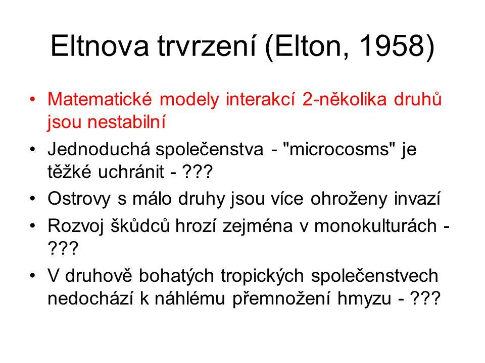 Eltnova trvrzení (Elton, 1958)
