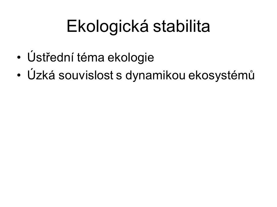 Ekologická stabilita Ústřední téma ekologie