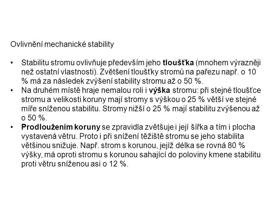 Ovlivnění mechanické stability