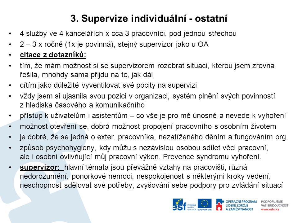 3. Supervize individuální - ostatní