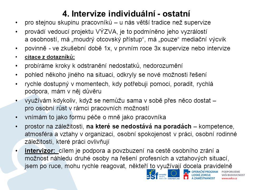 4. Intervize individuální - ostatní