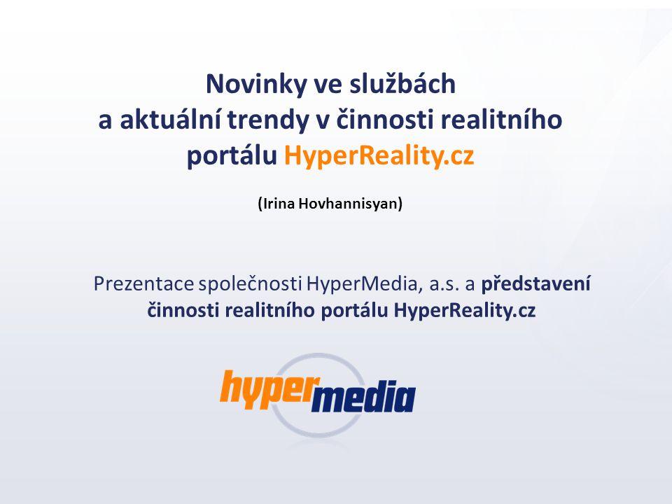 a aktuální trendy v činnosti realitního portálu HyperReality.cz