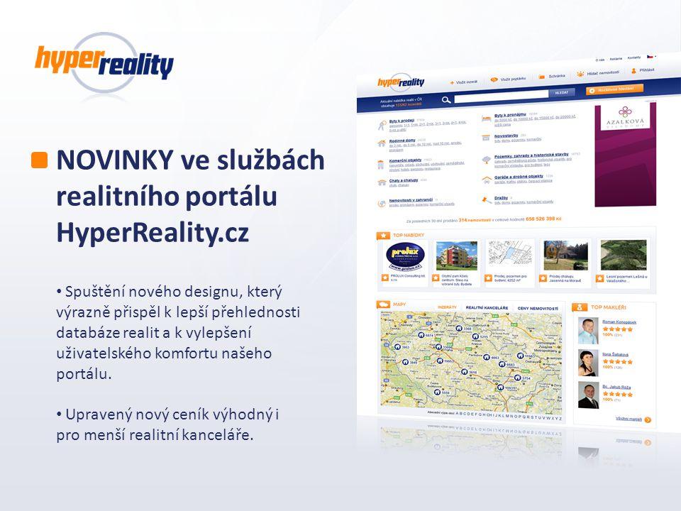NOVINKY ve službách realitního portálu HyperReality.cz