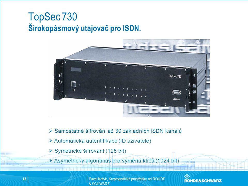 TopSec 730 Širokopásmový utajovač pro ISDN.