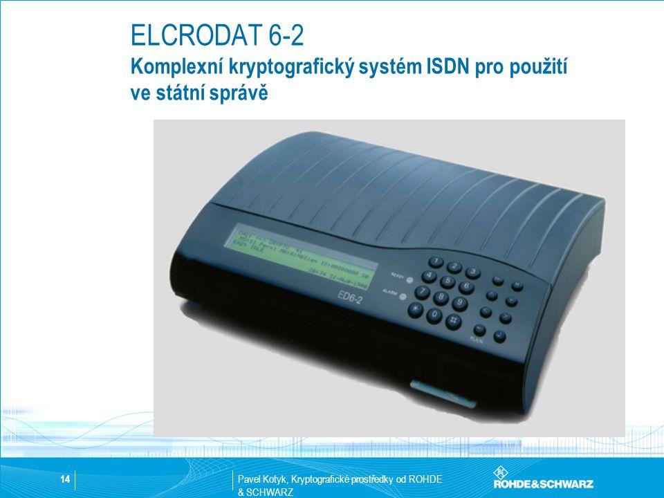 ELCRODAT 6-2 Komplexní kryptografický systém ISDN pro použití ve státní správě