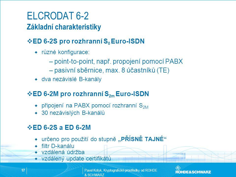 ELCRODAT 6-2 Základní charakteristiky