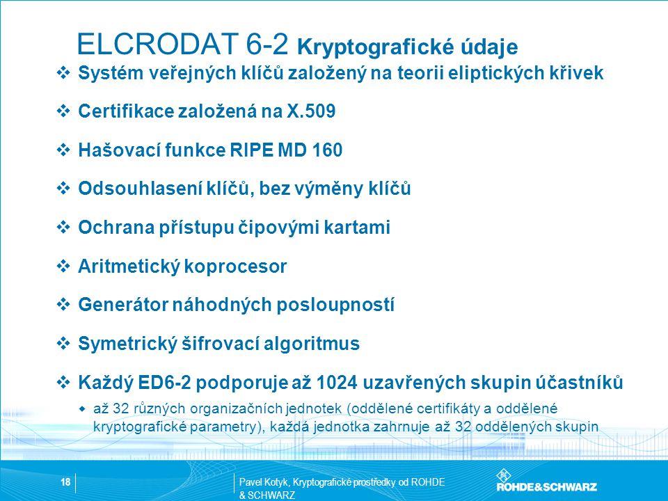 ELCRODAT 6-2 Kryptografické údaje