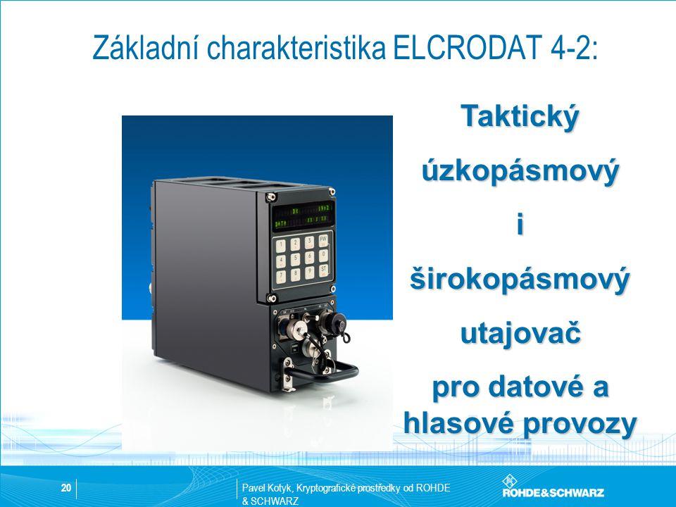 Základní charakteristika ELCRODAT 4-2: