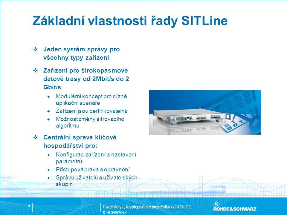 Základní vlastnosti řady SITLine