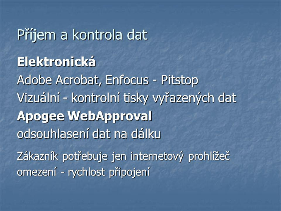 Příjem a kontrola dat Elektronická Adobe Acrobat, Enfocus - Pitstop