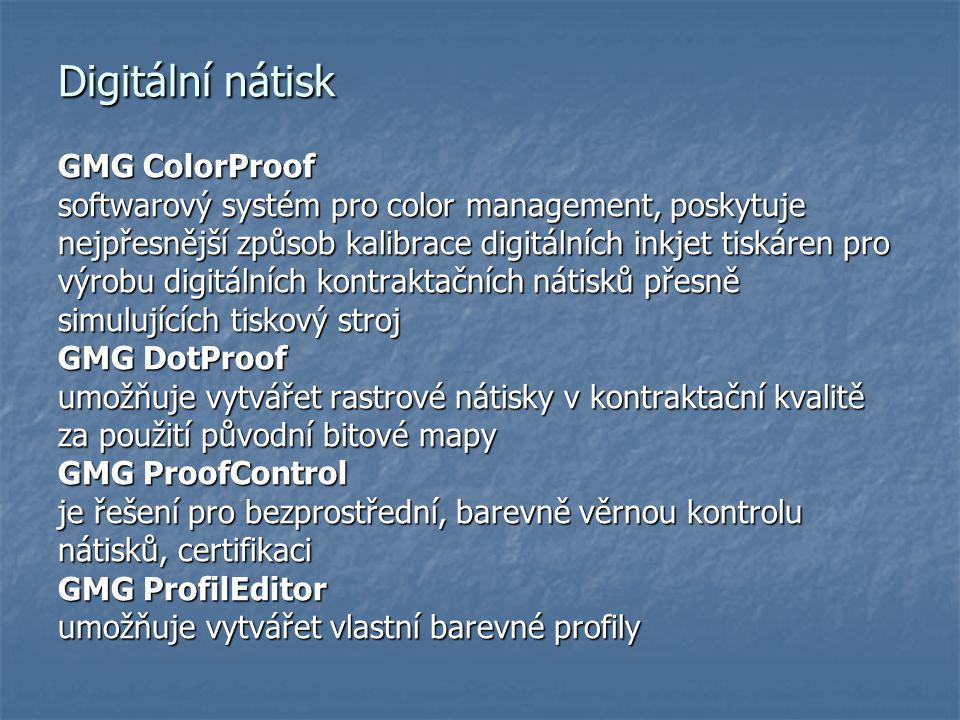 Digitální nátisk GMG ColorProof
