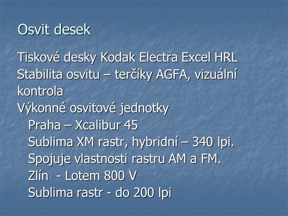 Osvit desek Tiskové desky Kodak Electra Excel HRL