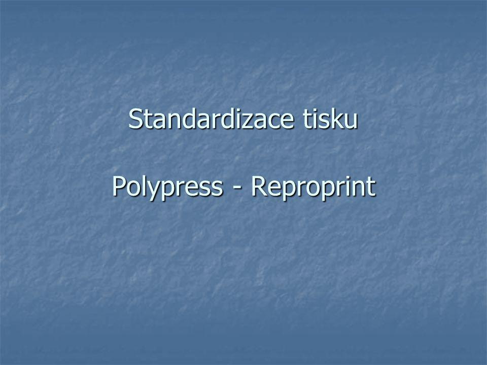 Standardizace tisku Polypress - Reproprint