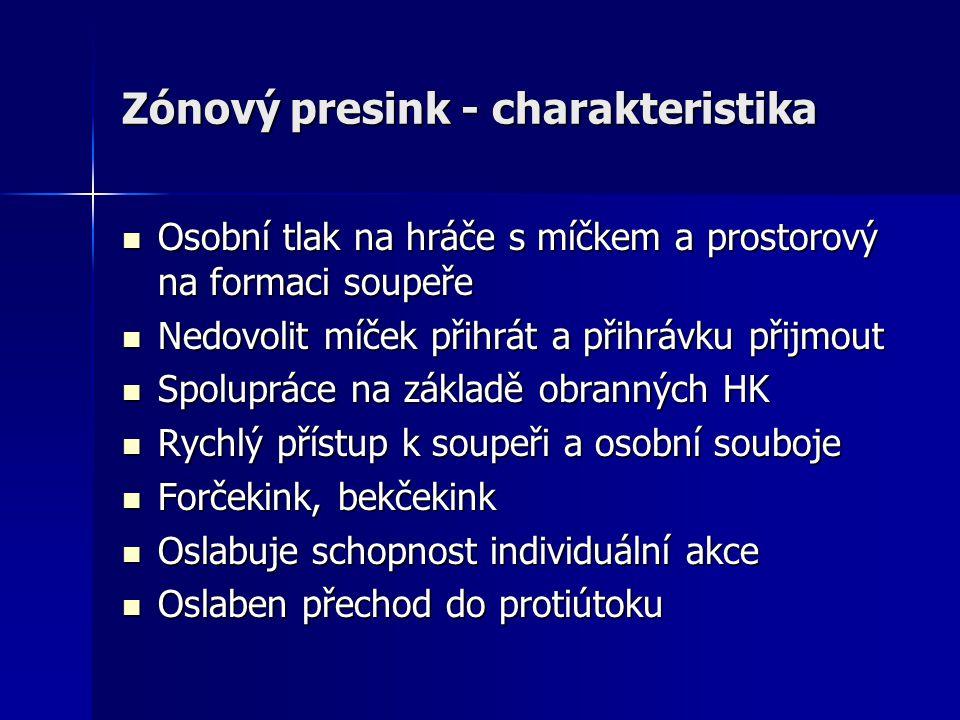 Zónový presink - charakteristika