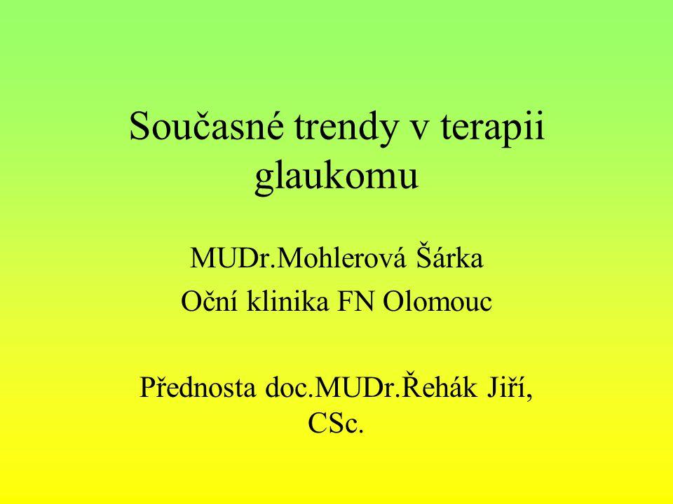 Současné trendy v terapii glaukomu