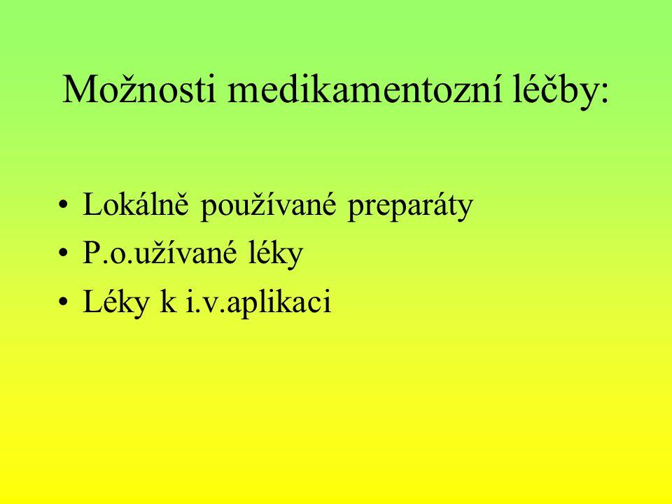 Možnosti medikamentozní léčby: