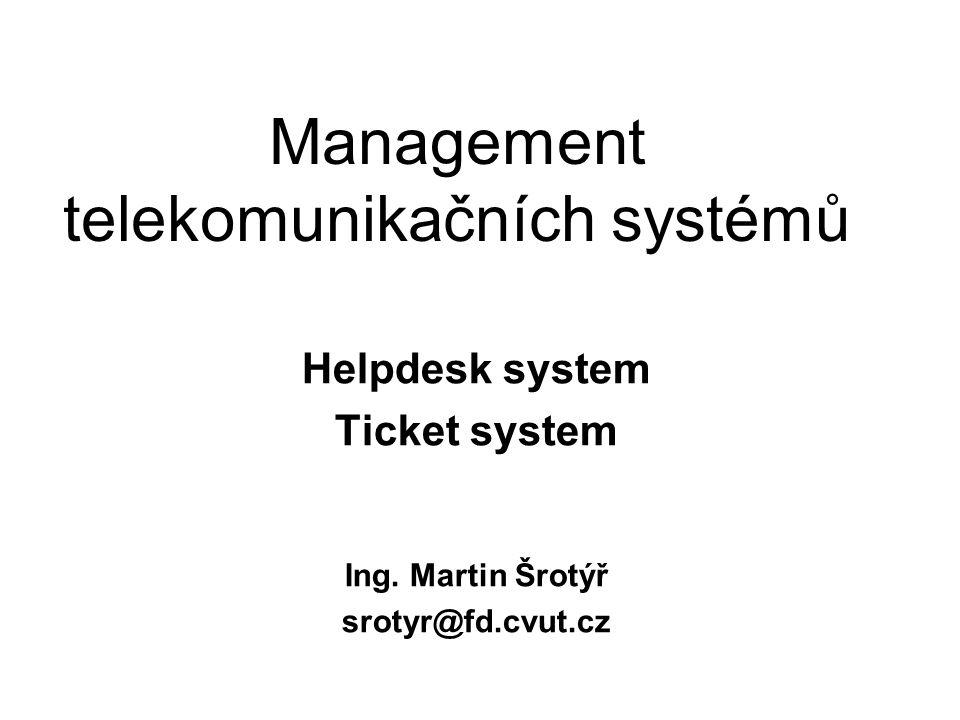 Management telekomunikačních systémů