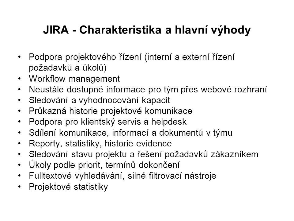 JIRA - Charakteristika a hlavní výhody