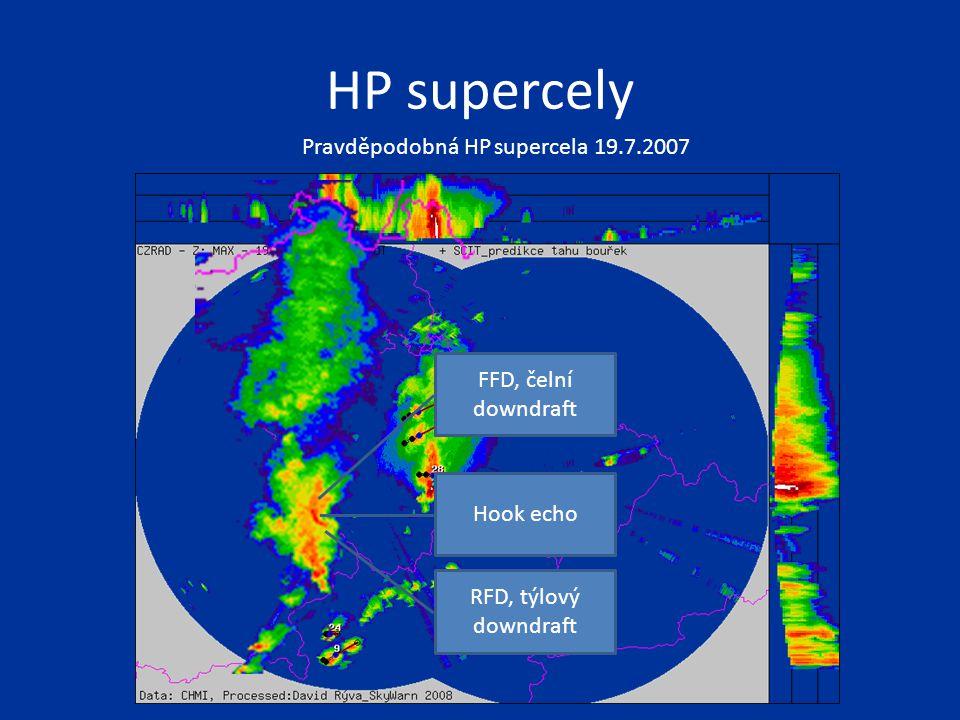 HP supercely Pravděpodobná HP supercela 19.7.2007 FFD, čelní downdraft