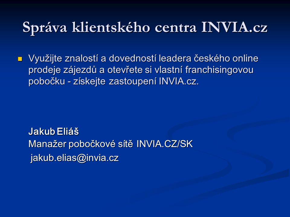Správa klientského centra INVIA.cz