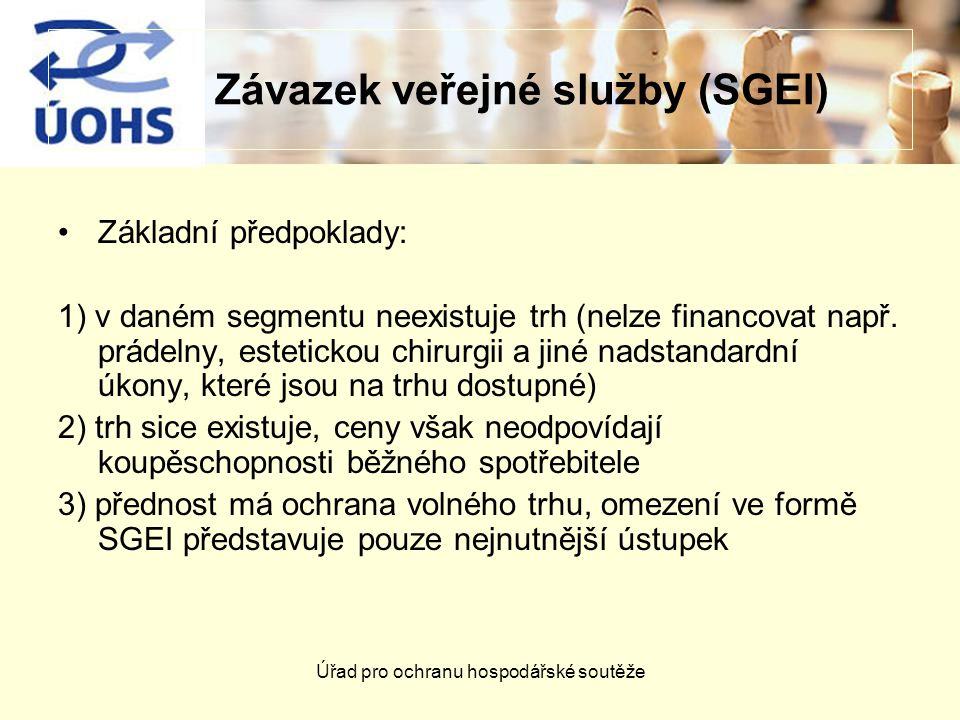 Závazek veřejné služby (SGEI)