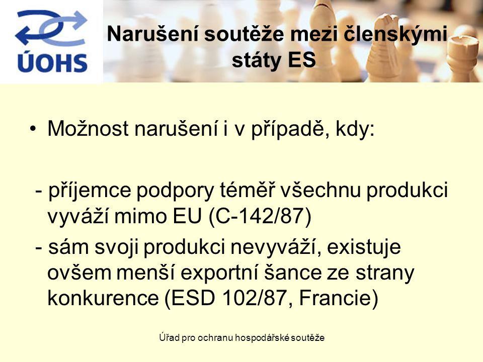 Narušení soutěže mezi členskými státy ES