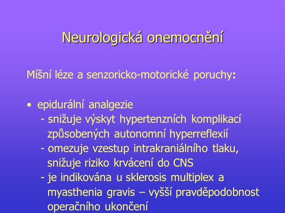 Neurologická onemocnění
