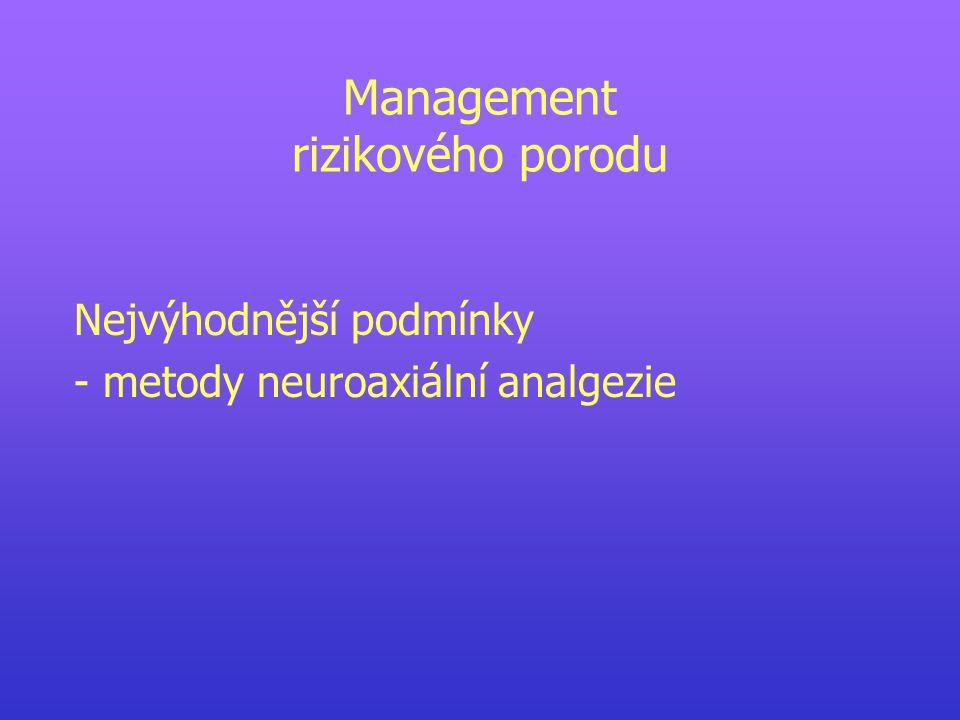 Management rizikového porodu