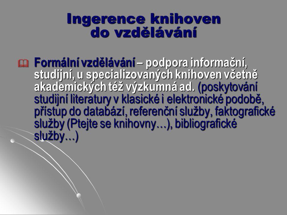 Ingerence knihoven do vzdělávání