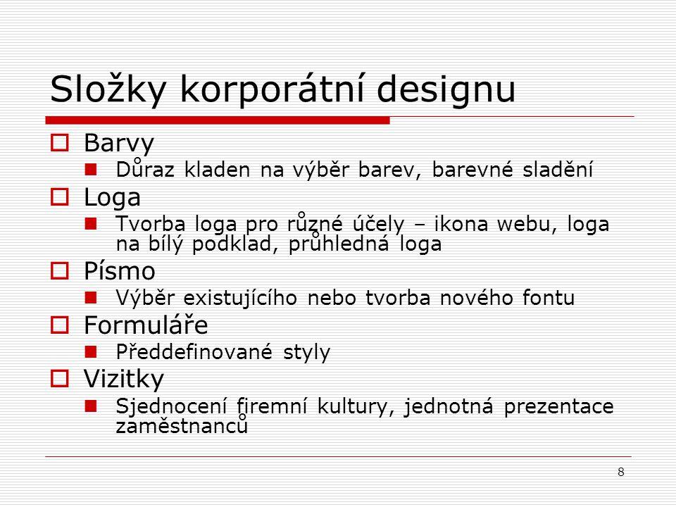 Složky korporátní designu