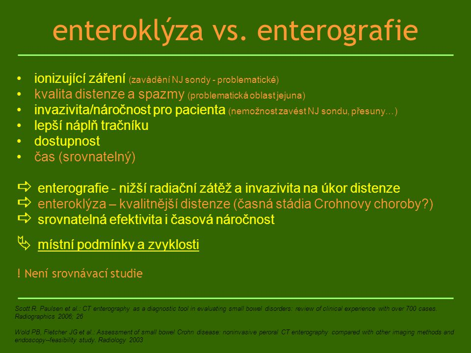 enteroklýza vs. enterografie