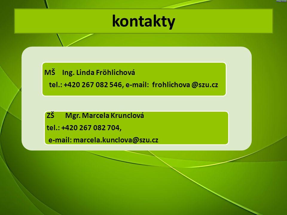 tel.: +420 267 082 546, e-mail: frohlichova @szu.cz