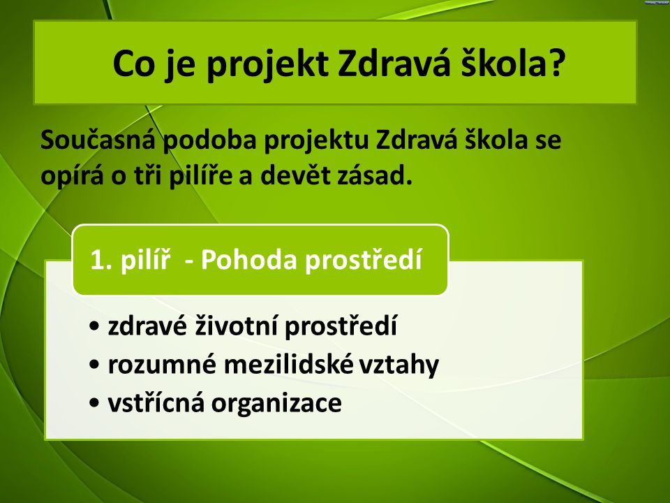 Co je projekt Zdravá škola