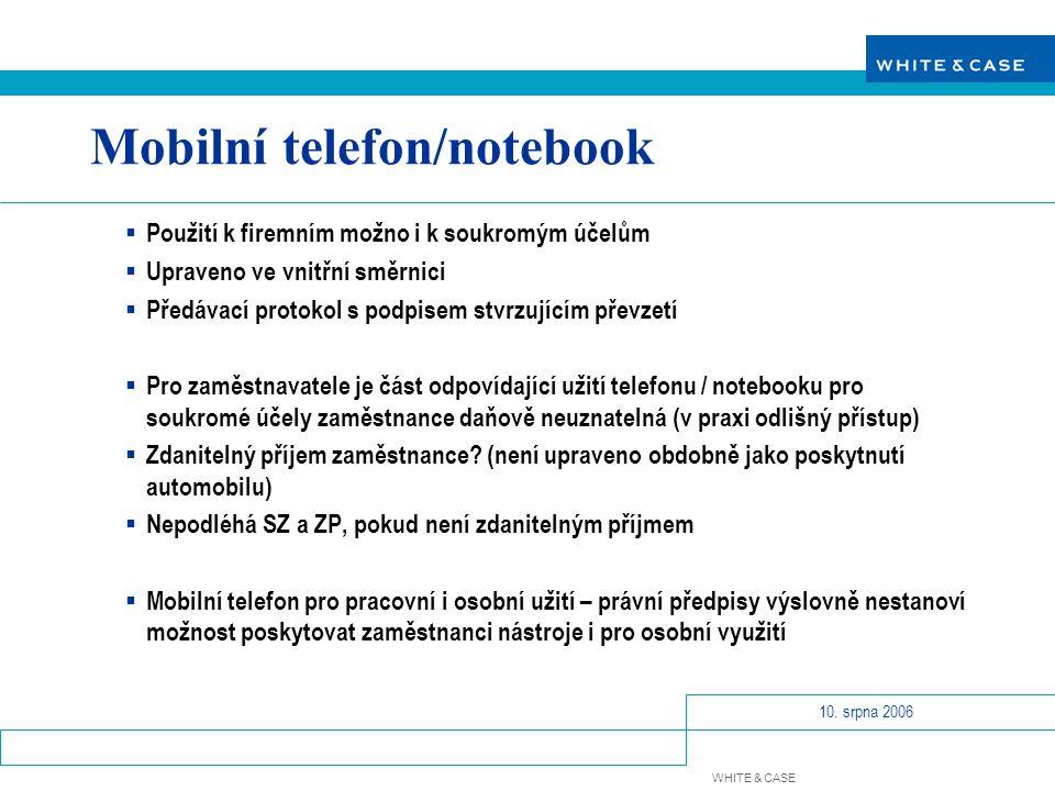 Mobilní telefon/notebook