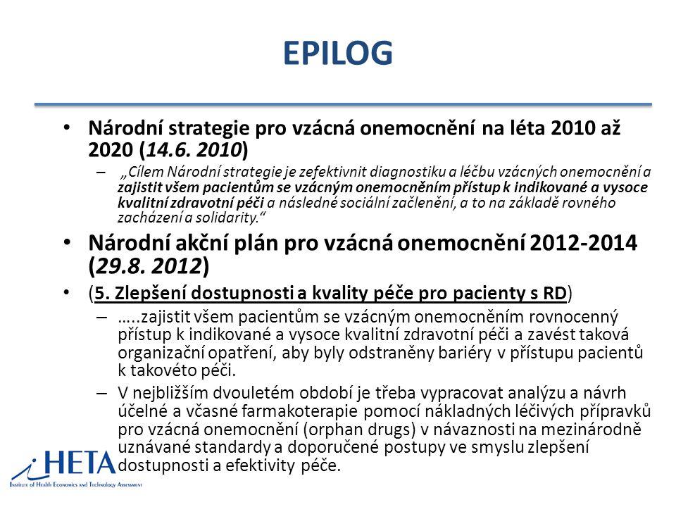 EPILOG Národní akční plán pro vzácná onemocnění 2012-2014 (29.8. 2012)