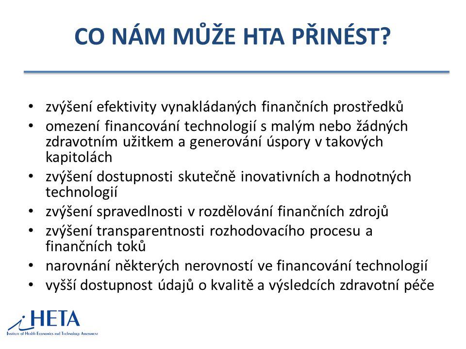 CO NÁM MŮŽE HTA PŘINÉST zvýšení efektivity vynakládaných finančních prostředků.