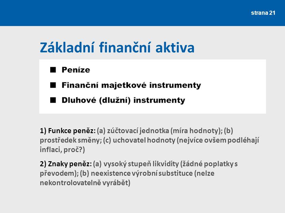 Základní finanční aktiva