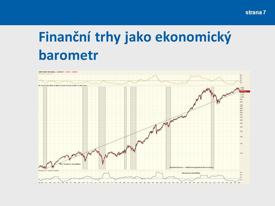 Finanční trhy jako ekonomický barometr