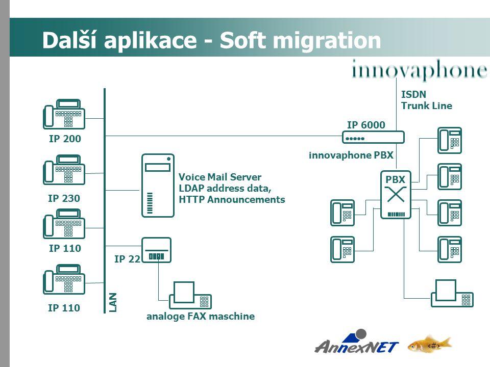 Další aplikace - Soft migration