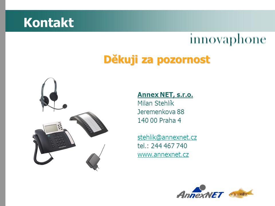 Kontakt Děkuji za pozornost Annex NET, s.r.o. Milan Stehlík