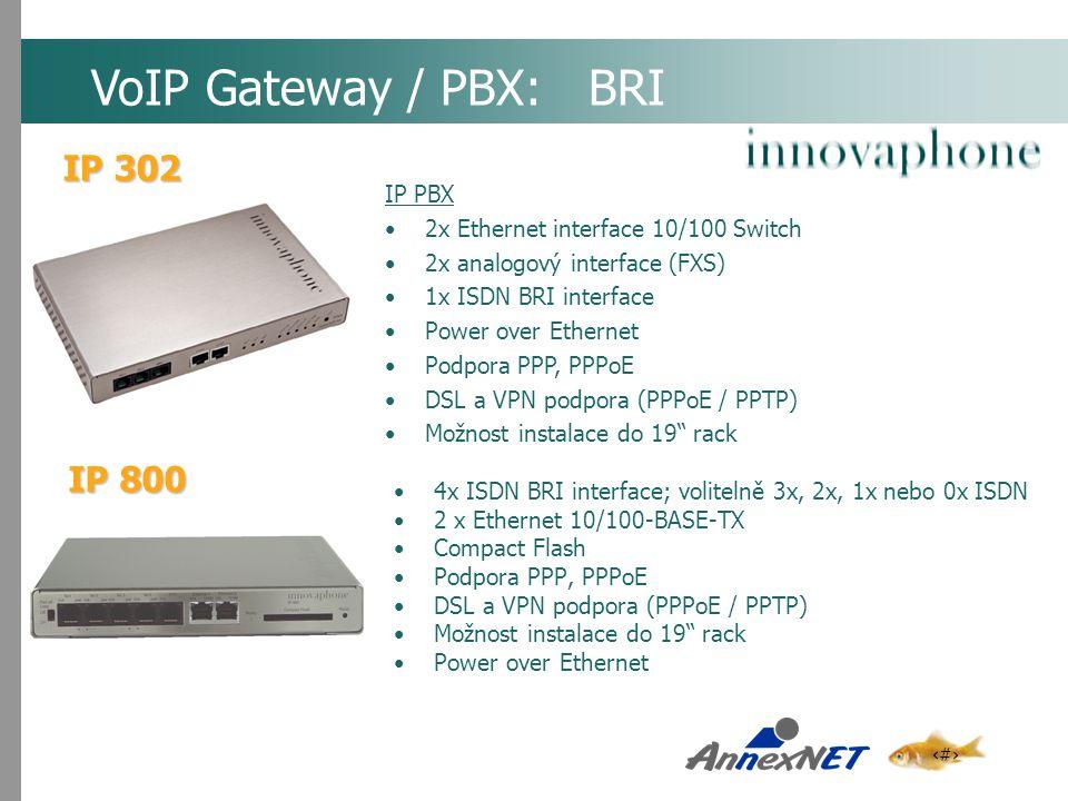 VoIP Gateway / PBX: BRI IP 302 IP 800 IP PBX