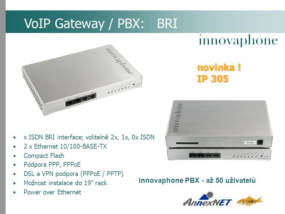 VoIP Gateway / PBX: BRI novinka ! IP 305