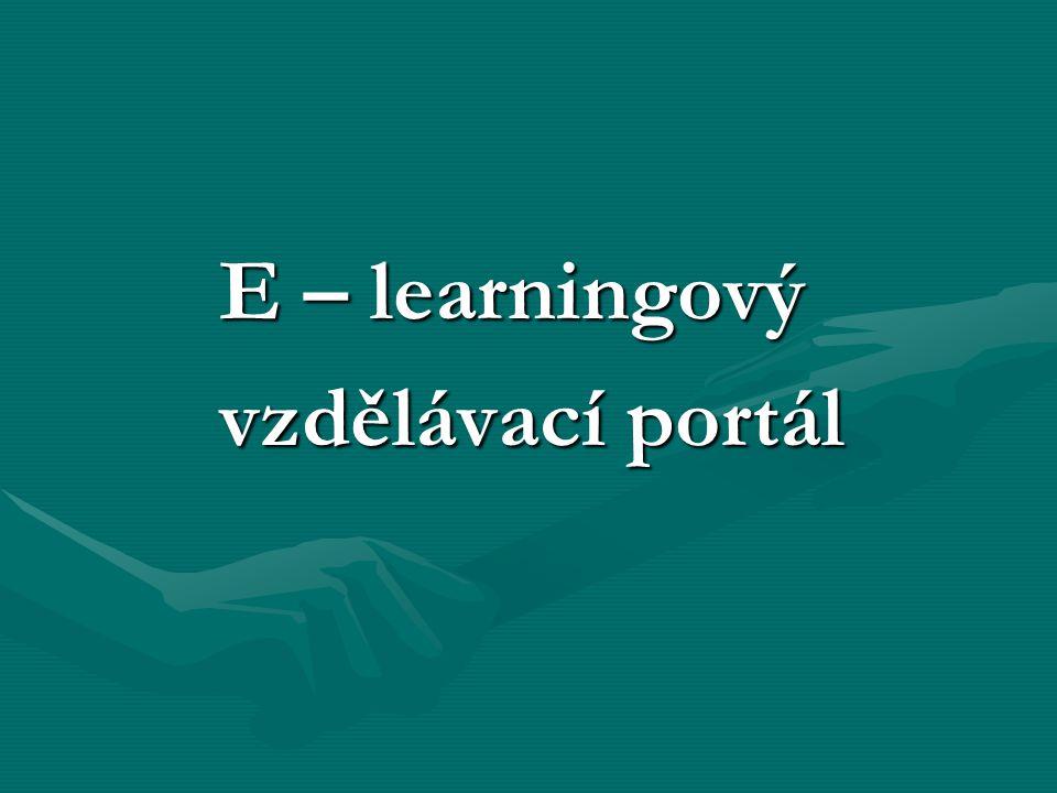 E – learningový vzdělávací portál