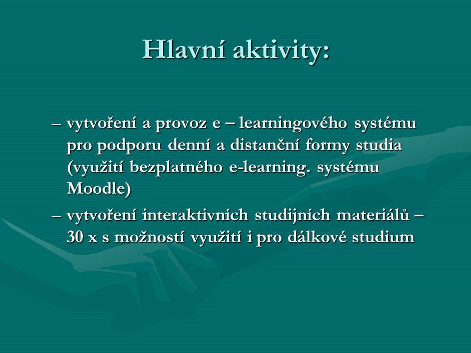 Hlavní aktivity: