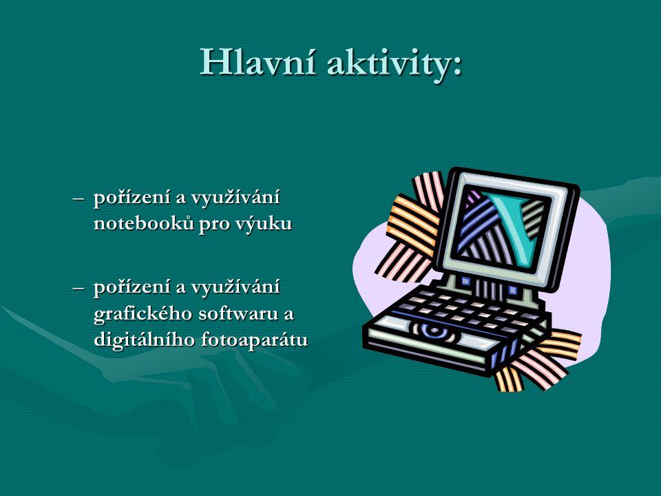 Hlavní aktivity: pořízení a využívání notebooků pro výuku
