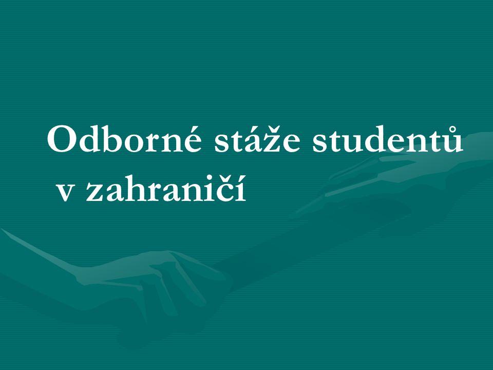 Odborné stáže studentů