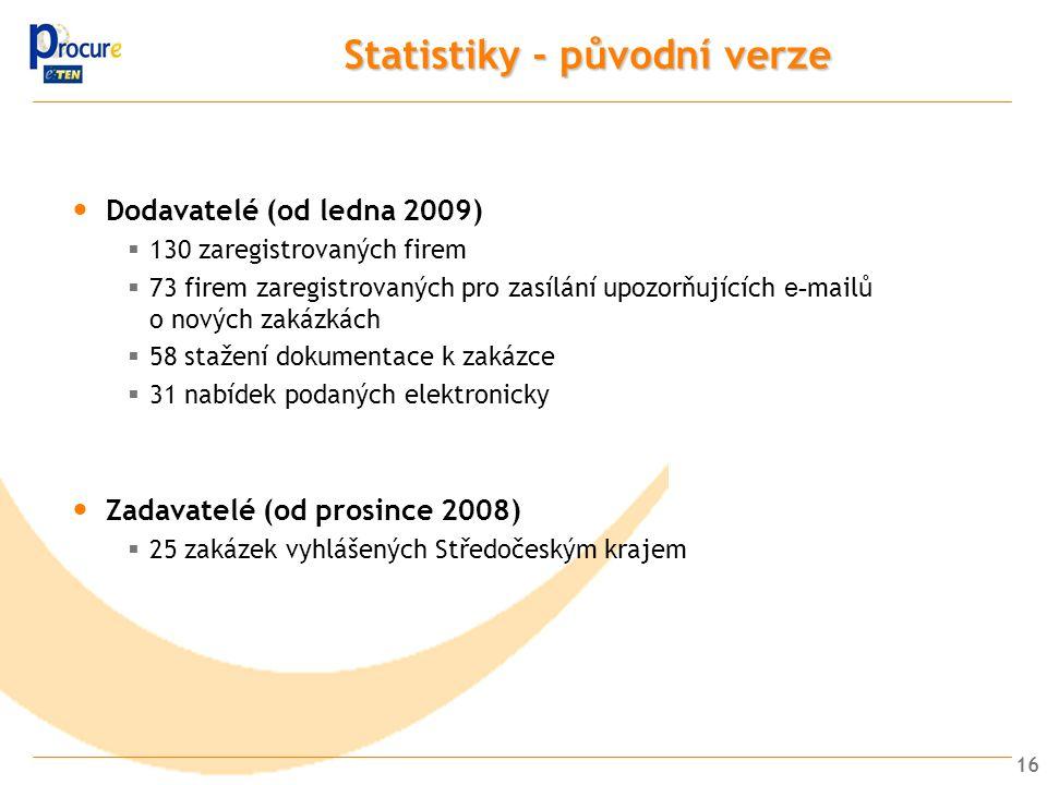 Statistiky - původní verze