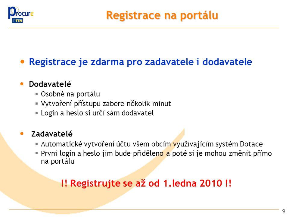 !! Registrujte se až od 1.ledna 2010 !!