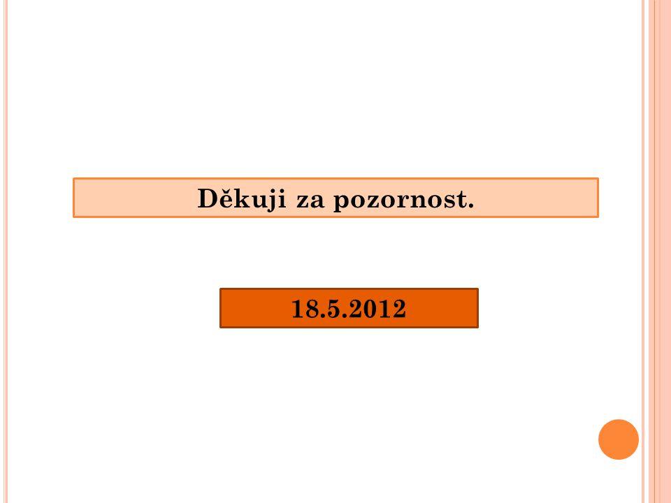 Děkuji za pozornost. 18.5.2012