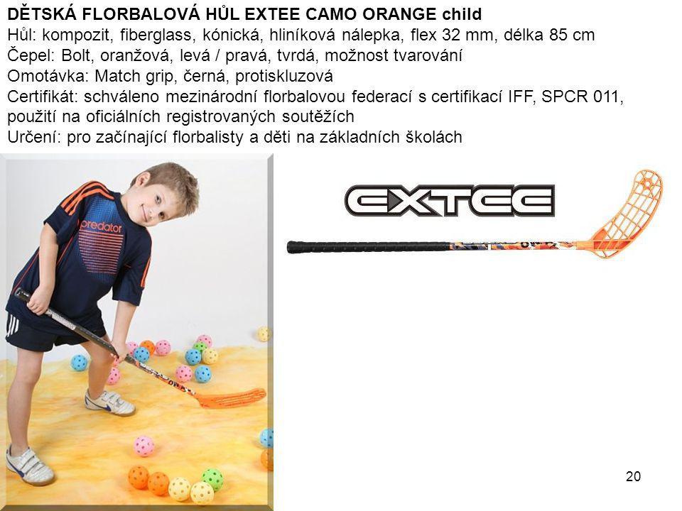 DĚTSKÁ FLORBALOVÁ HŮL EXTEE CAMO ORANGE child